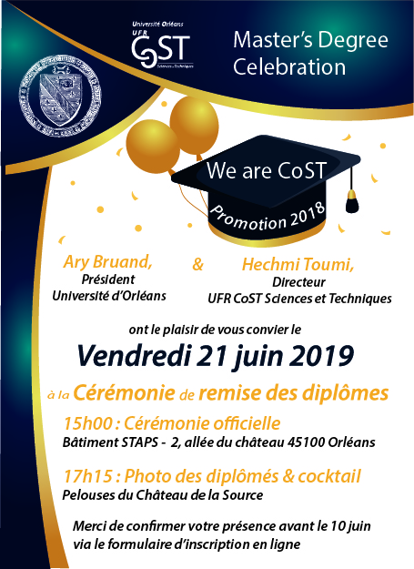 Ceremonie De Remise Des Diplomes Promotion 2018 Universite D Orleans