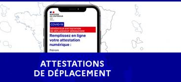 Attestations de déplacement
